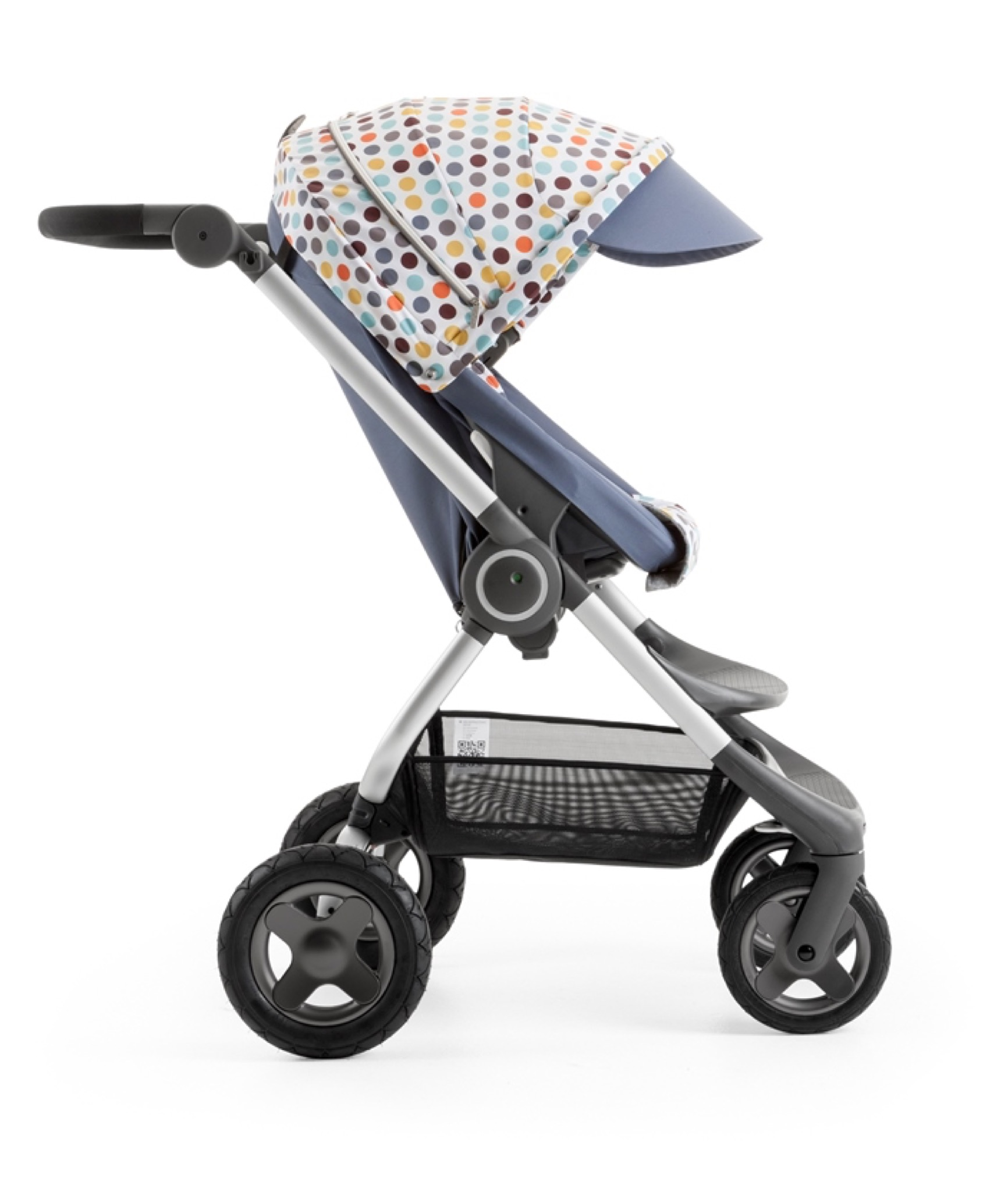 Stokke Scoot Slate Blue with Style Kit Retro Dots