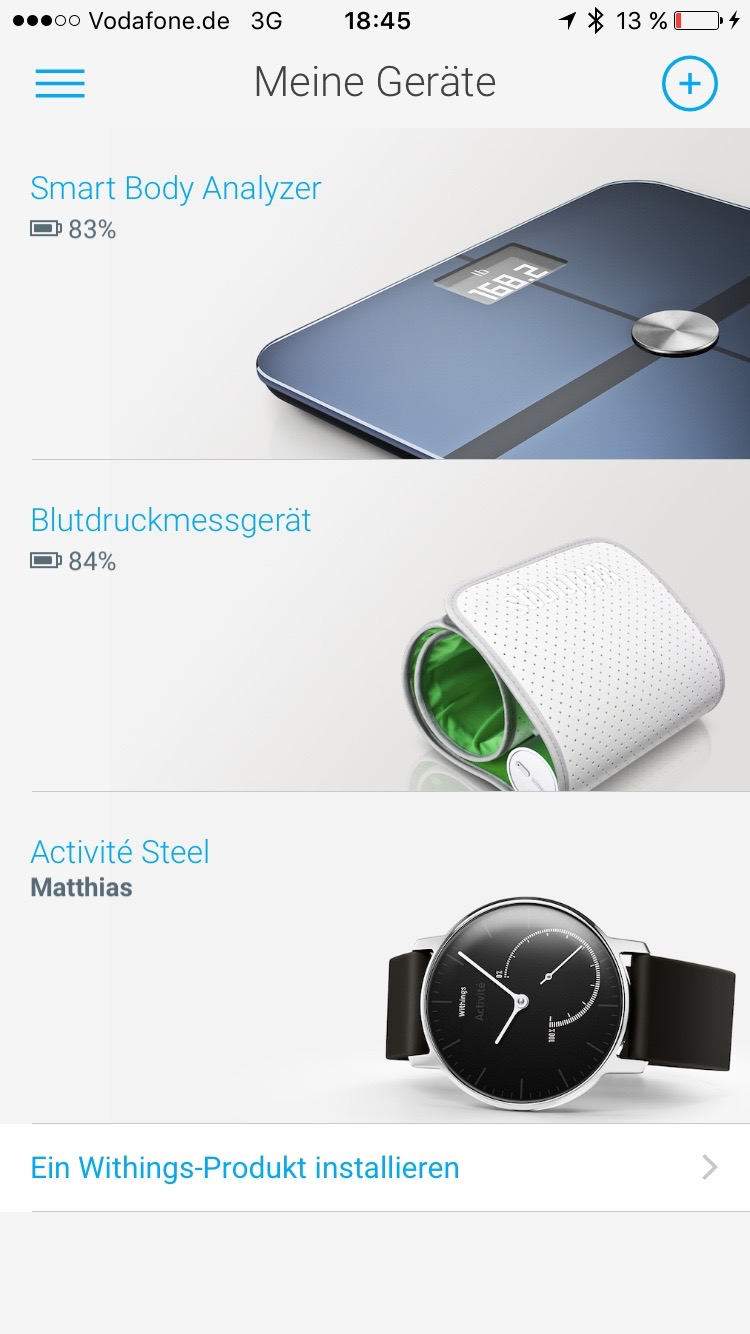 Withings Geräte
