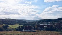 Blick über Heidenheim vom Osterholz aus.