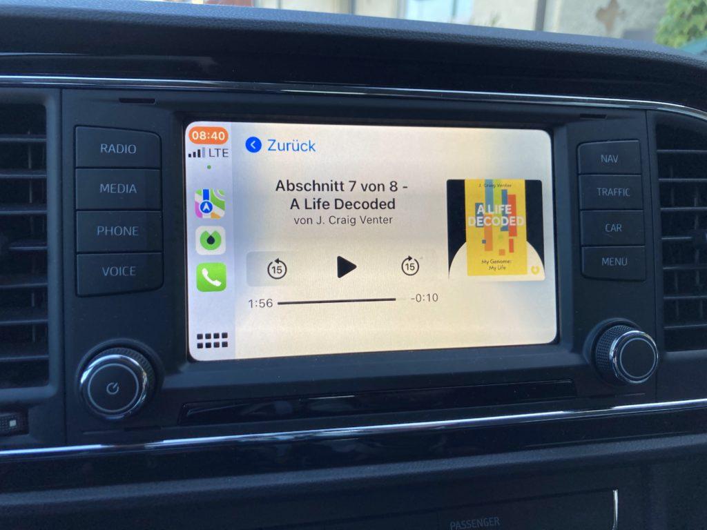 Blinkist in Apple CarPlay